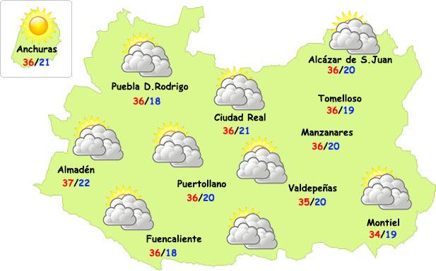 El tiempo en Ciudad Real: más calor y algo de inestabilidad