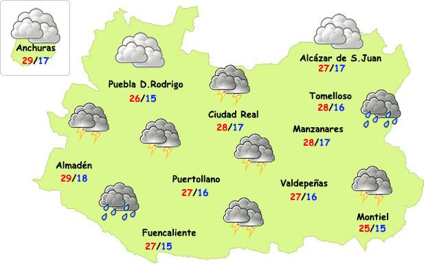 Este domingo continuarán las tormentas en Ciudad Real