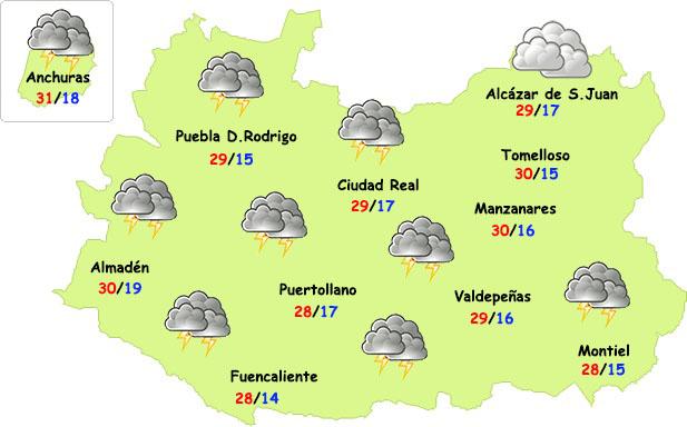 El tiempo en Ciudad Real: la semana se inicia con tormentas