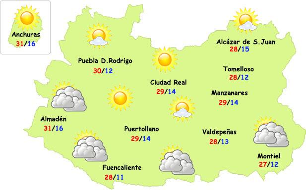 El tiempo en Ciudad Real: gran amplitud térmica