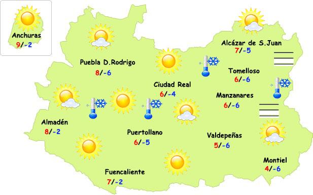 Se recrudece el frío en Ciudad Real los próximos días
