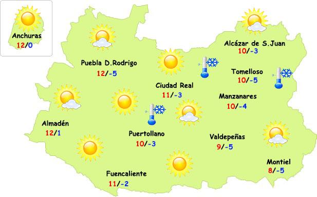 El tiempo en Ciudad Real: menos frío de día
