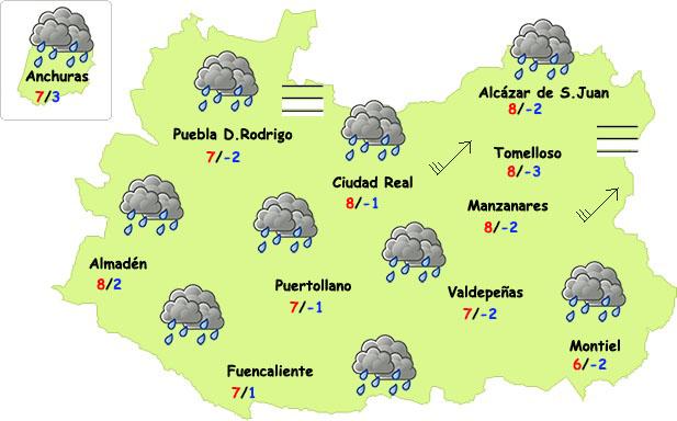 Llegan las lluvias (por fin) este fin de semana a Ciudad Real