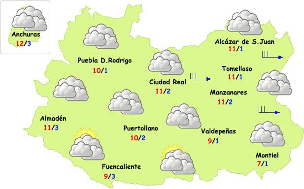 El tiempo en Ciudad Real: sin lluvia y con menos frío