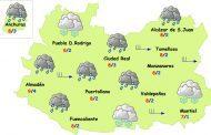 Una borrasca traerá lluvia y fuerte viento las próximas horas a Ciudad Real