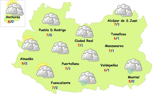 Más sol y más frío este fin de semana en Ciudad Real