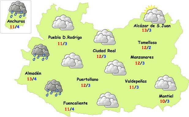 La lluvia remitirá en la segunda mitad de semana en Ciudad Real