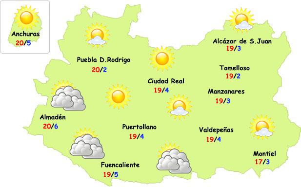 El tiempo en Ciudad Real: sigue el sol y suben las temperaturas