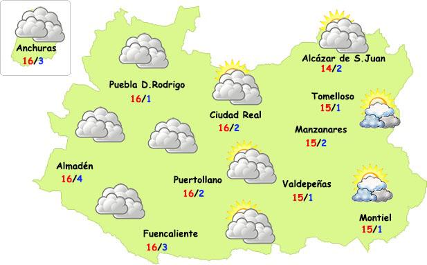 El tiempo en Ciudad Real: miércoles y jueves de tregua