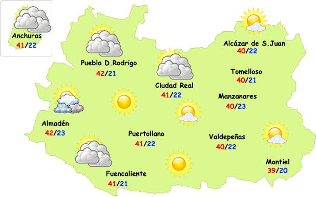 Apogeo de la entrada de calor en Ciudad Real