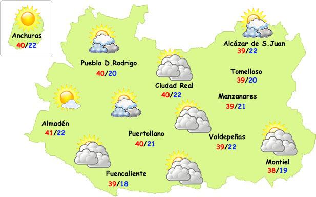 Pico de calor este fin de semana en Ciudad Real