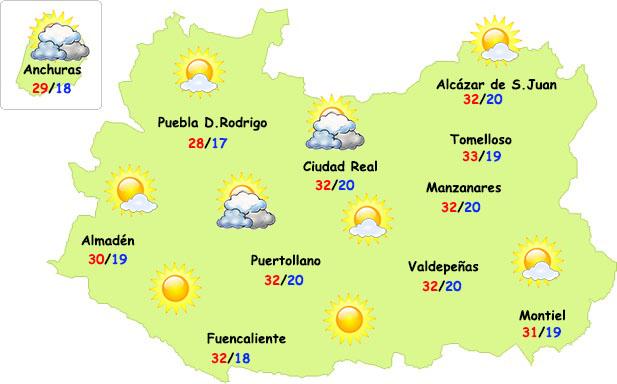 El tiempo en Ciudad Real: algo menos de calor