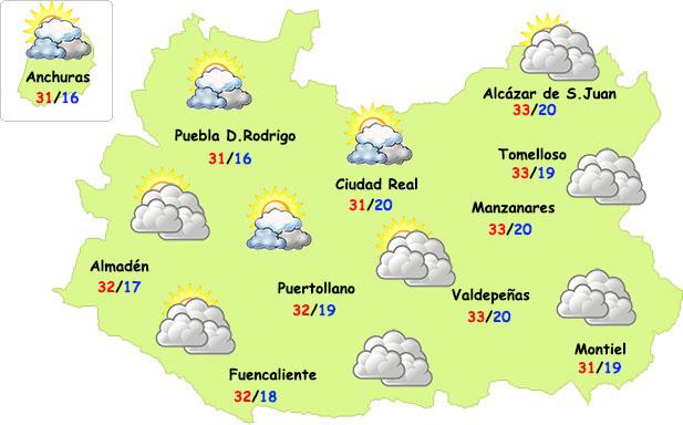El tiempo en Ciudad Real: nubes y menos calor el domingo