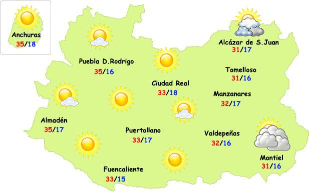 El tiempo en Ciudad Real: calor contenido