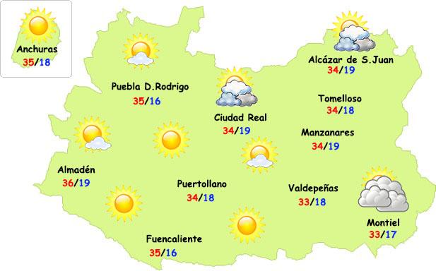 Bajan ligeramente las temperaturas en Ciudad Real