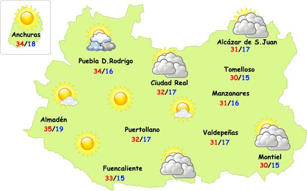 Vuelven el sol y el calor a la provincia de Ciudad Real