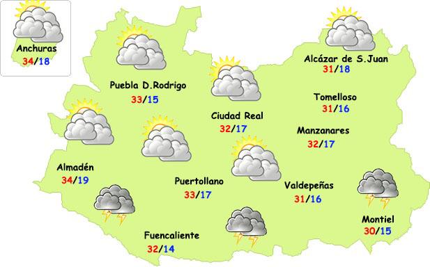 El tiempo en Ciudad Real: sigue el calor