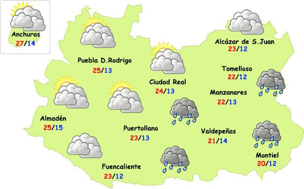 Este jueves regresan las nubes y alguna lluvia a la provincia de Ciudad Real