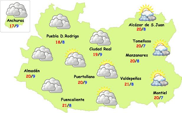 El tiempo en Ciudad Real: temperaturas de otoño