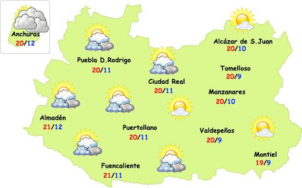 El tiempo en Ciudad Real: muchas nubes, pero sin frío