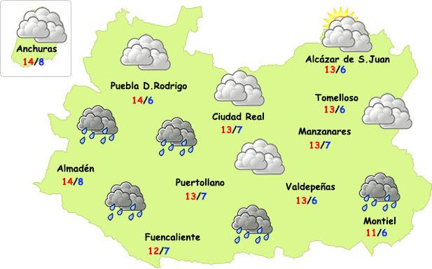 El tiempo en Ciudad Real: algunas lluvias y descenso térmico