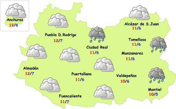 El tiempo en Ciudad Real: nubes y frío
