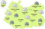 Miércoles de nubes, lluvias débiles y menos frío en Ciudad Real