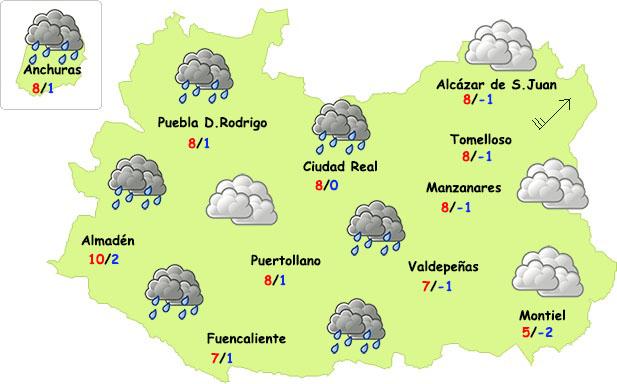 El tiempo en Ciudad Real: frío y poca lluvia