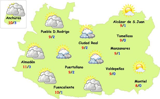 El tiempo en Ciudad Real: comienzo de semana sin lluvias y frío