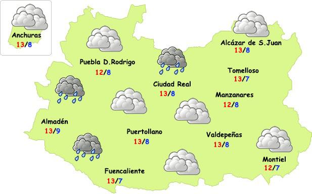 El tiempo en Ciudad Real: poco frío