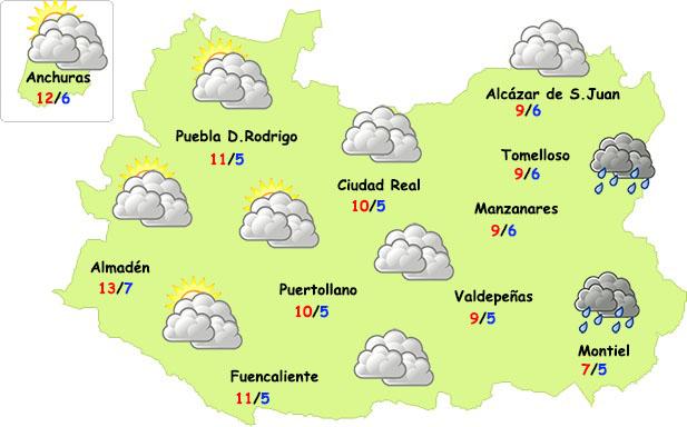 El tiempo en Ciudad Real: mucha nube, poca agua