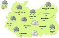 Sábado de lluvia y frío en la provincia de Ciudad Real
