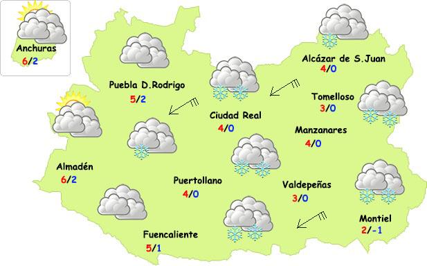 ¿Va a nevar en la provincia de Ciudad Real?
