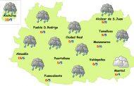 El tiempo en Ciudad Real: lluvias hasta el domingo
