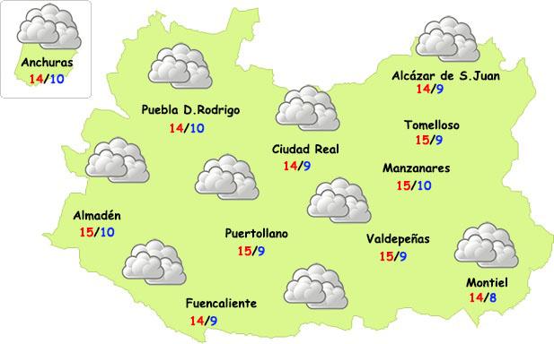El tiempo en Ciudad Real: nubes (sin lluvias) y...¡sin frío!