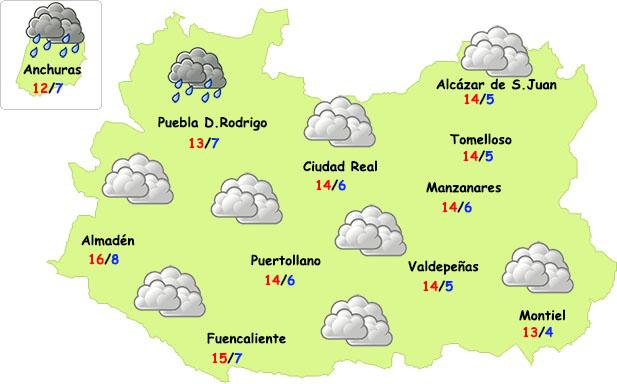 El tiempo en Ciudad Real: nubes y lloviznas sin frío