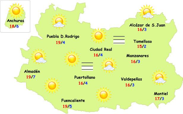 El tiempo en Ciudad Real: bajan las temperaturas