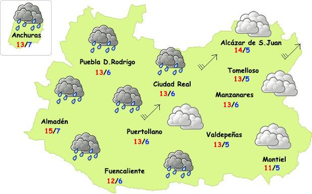 Vuelven las (débiles) lluvias, el viento y el frío a la provincia de Ciudad Real