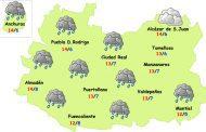 Marzo empieza con un breve episodio de lluvias