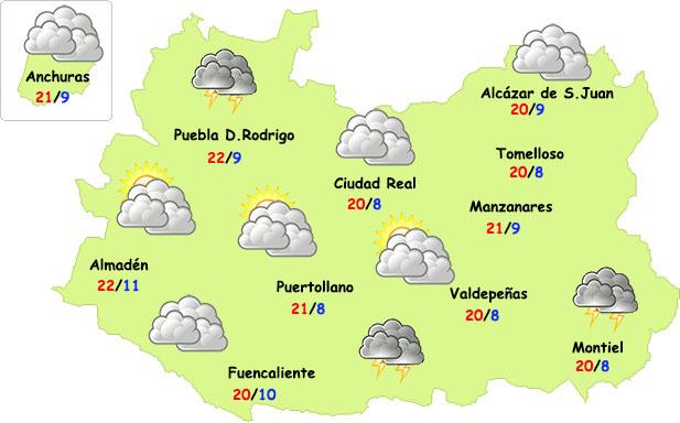 Bajan las temperaturas y llega alguna tormenta este fin de semana a la provincia de Ciudad Real