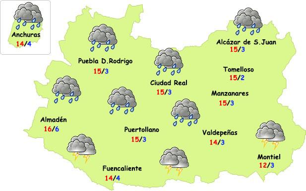 Lunes de más lluvia en Ciudad Real