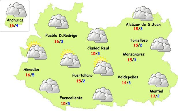 El tiempo en Ciudad Real: cesan las lluvias por unos días