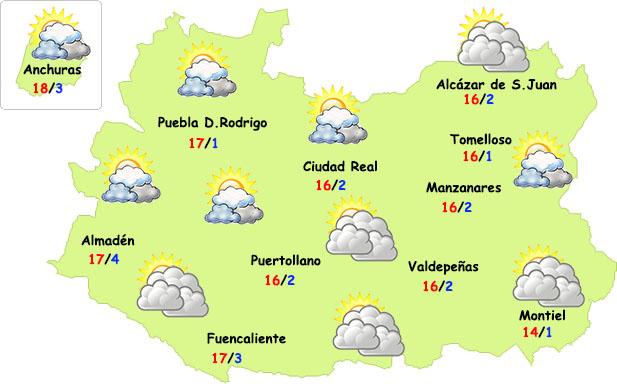 El tiempo en Ciudad Real: finde sin lluvias