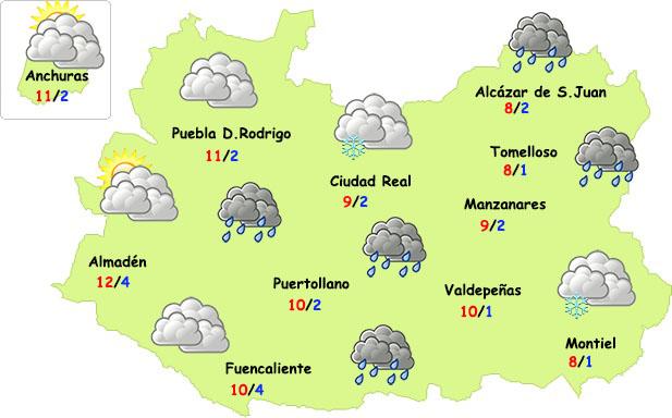 Previsión especial viernes 26 de marzo: lluvia y...¿nieve en zonas altas?