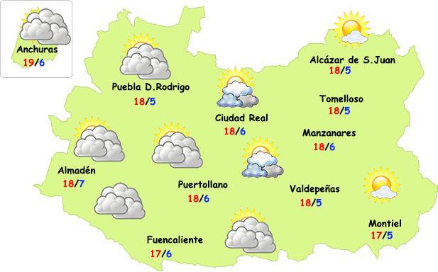 Las lluvias se toman un respiro de dos días en Ciudad Real