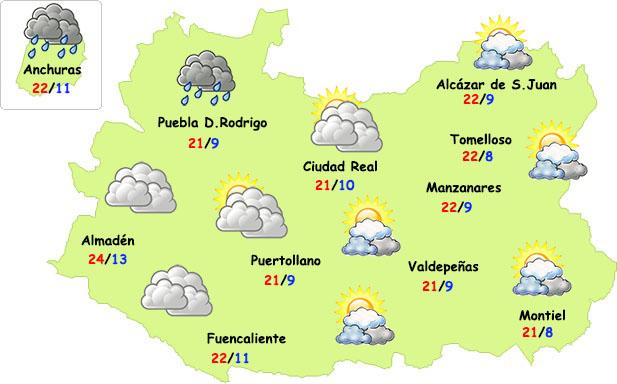 El tiempo en Ciudad Real: temperaturas muy suaves