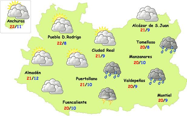 Repuntan las tormentas este fin de semana en Ciudad Real