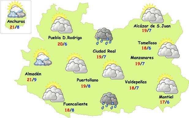 El tiempo en Ciudad Real: menos lluvias martes y miércoles