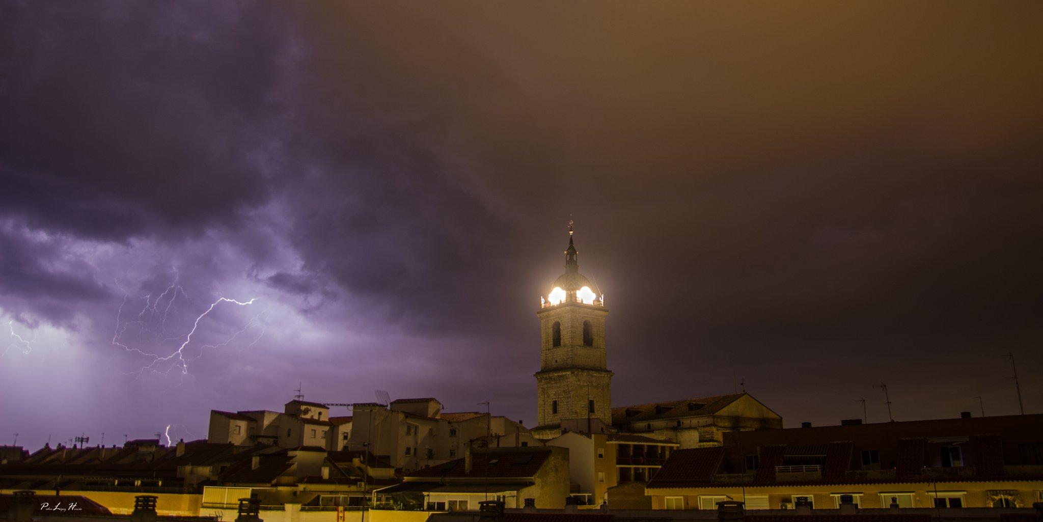 Una tormenta despierta a Ciudad Real