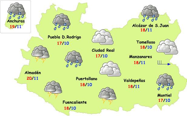 Cambio brusco de tiempo este fin de semana en la provincia de Ciudad Real